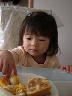 2歳最初の朝食